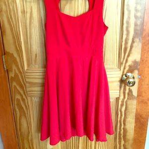 Red Heart-Back Dress